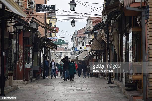 the old bazaar - skopje stock pictures, royalty-free photos & images
