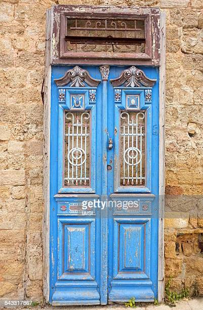 The old blue door in Jaffa