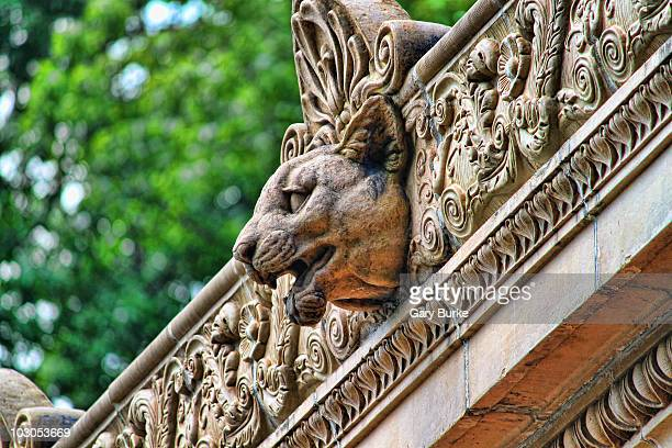 The old building at the Bronx Zoo has some very elaborate and ornate architecture. This is a detail shot of the Big Cat House.