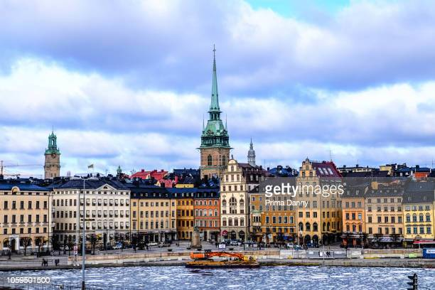 the old building landscape on winter - stockholm stock pictures, royalty-free photos & images