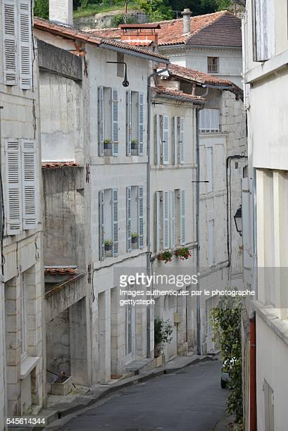 The old buildings in touristic village of Aubeterre-sur-Dronne
