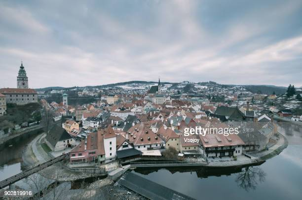 the old charm has not faded yet. český krumlov return to renaissance era - vsojoy stock pictures, royalty-free photos & images