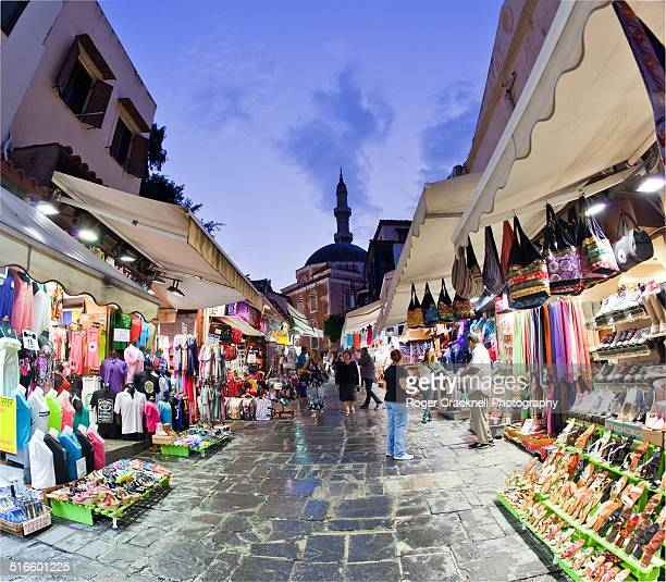 The Old City at Night Rhodes Greece