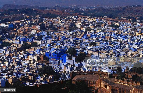 The old city below the ramparts of Meherangarh (Majestic Fort).