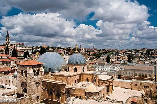 the old city, jerusalem - chiesa del santo sepolcro foto e immagini stock