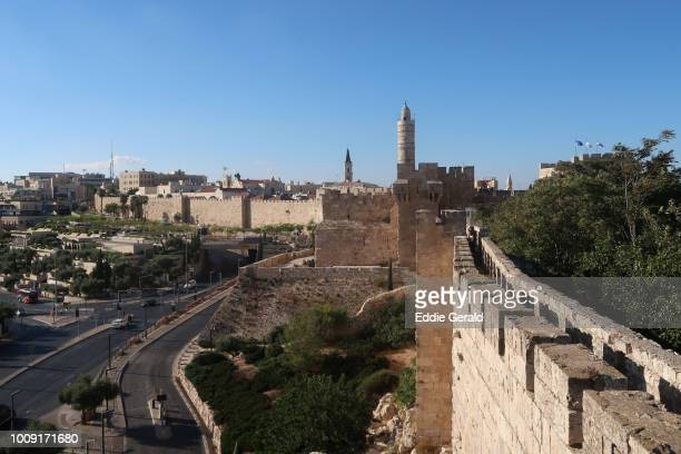 the old city of jerusalem - jerusalem old city stock pictures, royalty-free photos & images