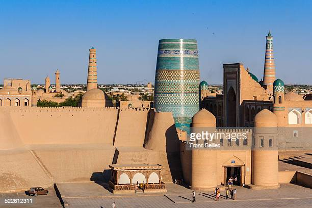 the old city of khiva, uzbekistan - oezbekistan stockfoto's en -beelden