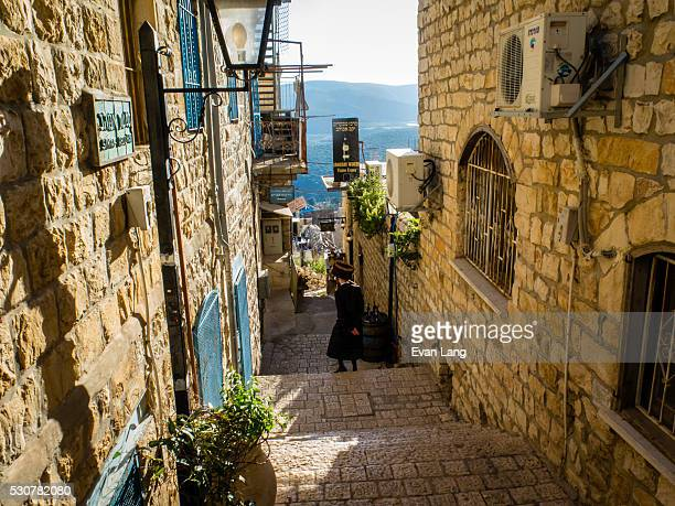 the old city of safed in northern israel - safed stock photos and pictures