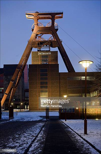 The old coal mine Zollverein at night on February 12 2010 in Essen Germany