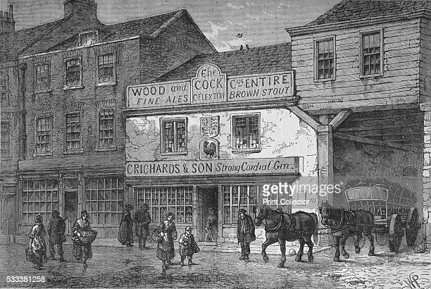 The old Cock Tavern 4 Tothill Street Westminster London' from 'Old and New London Illustrated Vol IV' by Edward Walford 1878 The Cock Tavern was a...
