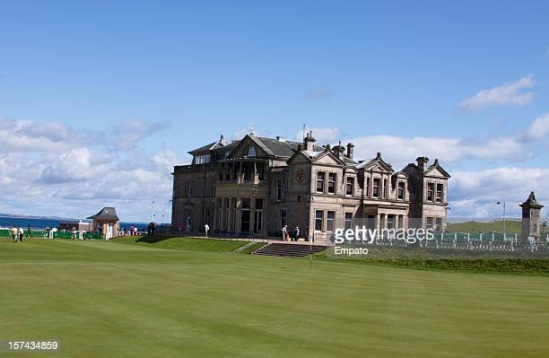the old course, st andrews. - the royal and ancient golf club stock pictures, royalty-free photos & images