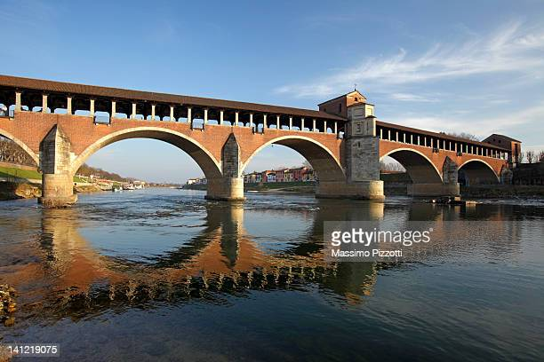 The old covered bridge in Pavia
