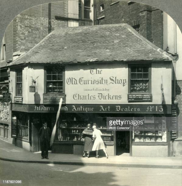 The Old Curiosity Shop London England' circa 1930s The Old Curiosity Shop built in 1567 on Portsmouth Street Holborn was inspiration for Charles...