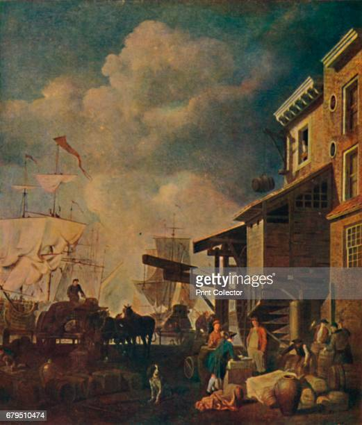 The Old East India Wharf London Bridge' c17001740 From Social England Volume V edited by HD Traill DCL and J S Mann MA [Cassell and Company Limited...