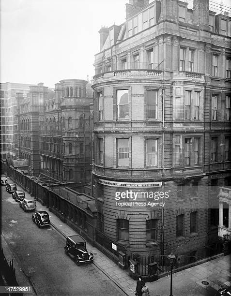 The old entrance to the Hospital for Sick Children Great Ormond Street London 14th January 1949