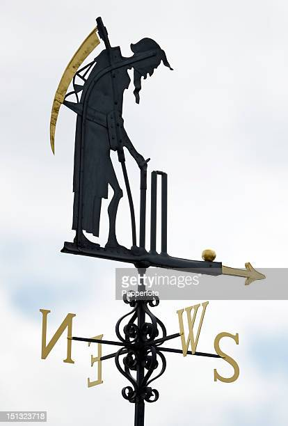 The Old Father Time weather vane during the Women's Individual Archery match on Day 6 of the London 2012 Olympic Games at Lord's Cricket Ground on...
