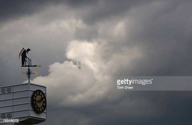 The Old Father Time weather vane is pictured during day one of the First Test match between England and India at Lord's on July 19 2007 in London...