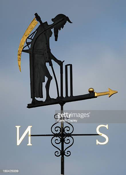 The Old Father Time Weathervane during day two of 3rd Investec Test match between England and South Africa at Lord's Cricket Ground on August 17 2012...