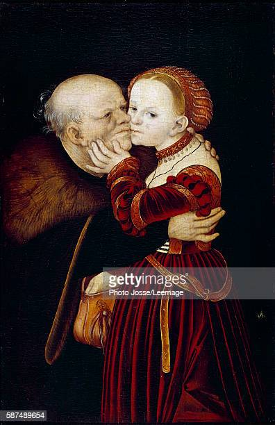 The old fool Painting by Lucas Cranach 16th century National Gallery Prague