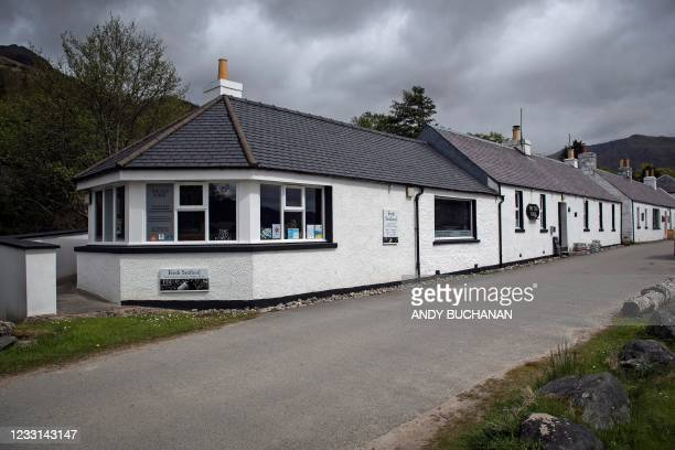 The Old Forge pub, owned by Jean-Pierre Robinet, is pictured in Inverie on the Knoydart peninsular in the Scottish Highlands on May 21, 2021. - The...
