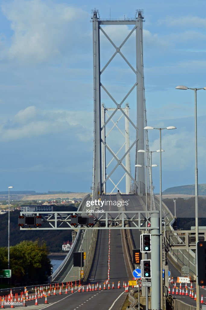 The old Forth Road Bridge, pictured as Transport Scotland announces it will re-open to some scheduled bus services on Friday, October 13, 2017, on October 12, 2017 in South Queensferry, Scotland. The bridge has been closed for roadworks since the opening of the Queensferry Crossing, to prepare it for a new role as a' public transport corridor' which will eventually carry most buses, taxis, and motorcycles, as well as cyclists and pedestrians.