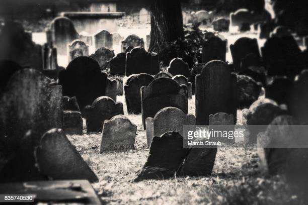 the old graveyard - cemetery stock pictures, royalty-free photos & images