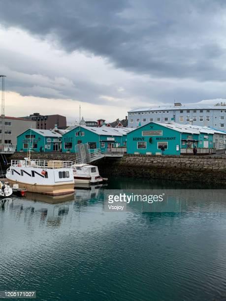 the old harbour, reykjavik, iceland - vsojoy stock pictures, royalty-free photos & images