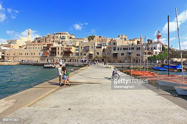 the old jaffa, the seaport - tel aviv stock pictures, royalty-free photos & images