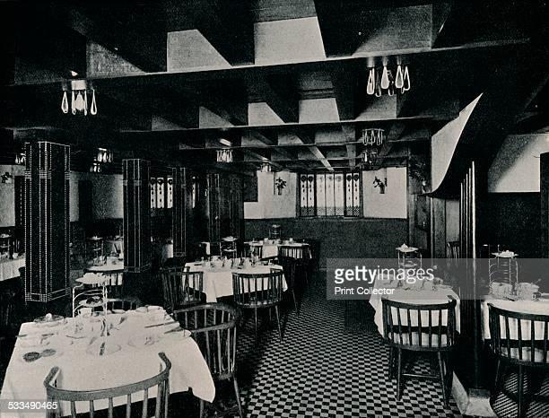 The Old Kitchen at Miss Cranston's Tea House Argyle Street Glasgow c1906 Catherine Cranston employed Charles Rennie Mackintosh to design the interior...