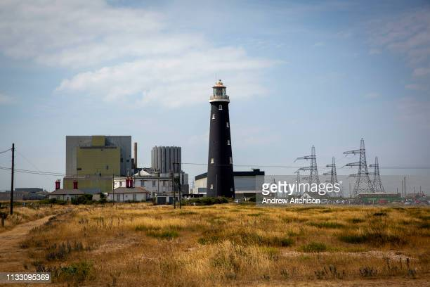 The Old Lighthouse of Dungeness Kent United Kingdom A Historic Grade II listed building it is the fourth lighthouse built on Dungeness and was built...