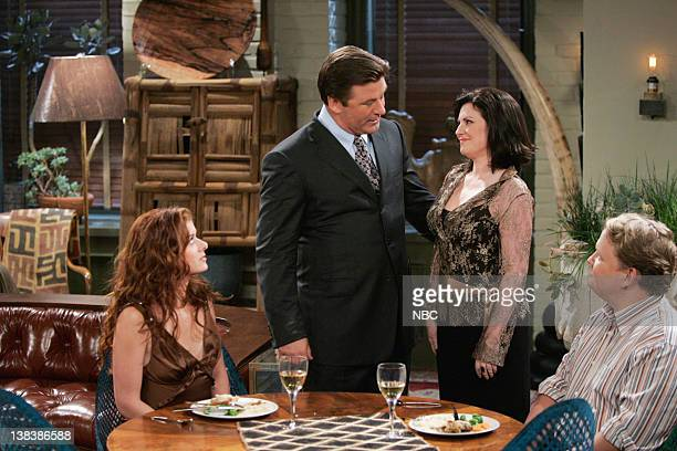 WILL GRACE 'The Old Man and the Sea' Episode 3 Pictured Debra Messing as Grace Adler Alec Baldwin as Malcolm Megan Mullally as Karen Walker Andy...