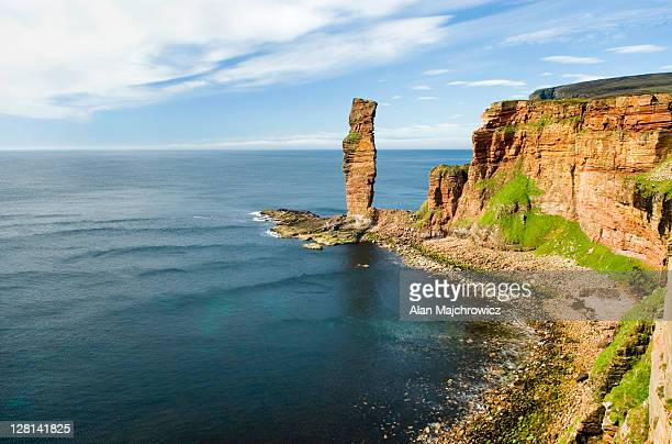 The Old Man Of Hoy, a 450 foot tall sea stack on the Isle of Hoy. Orkney Islands, Scotland