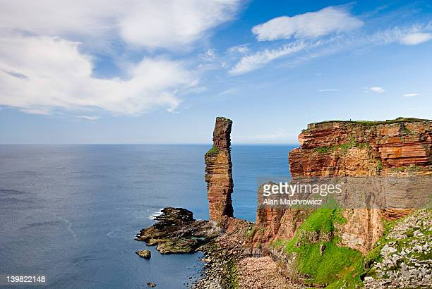 The Old Man Of Hoy, a 450 tall sea stack on the western coast of Isle of Hoy. Orkney Islands, Scotland, UK