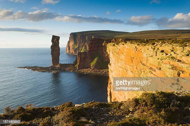 The Old Man of Hoy in evening light