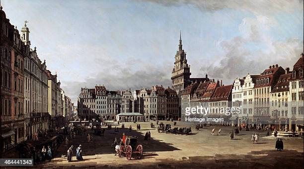 'The Old Market Place in Dresden' c1750c1752 Found in the collection of the State A Pushkin Museum of Fine Arts Moscow