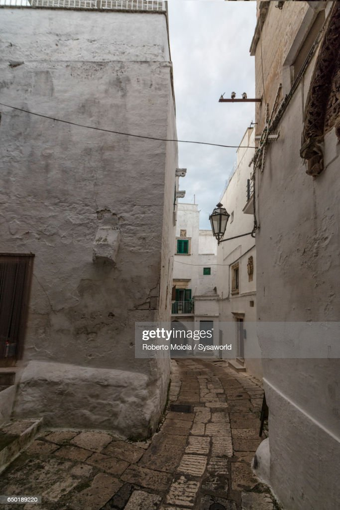 The old medieval town Ostuni Apulia Italy : Stock Photo