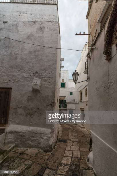 The old medieval town Ostuni Apulia Italy