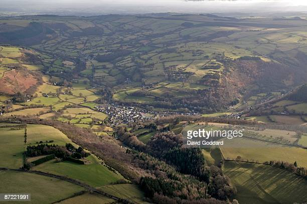 The old minning village of Glyn Ceiriog on 20th January 2009