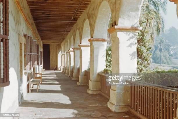 The old Mission Santa Barbara Santa Barbara California circa 1960 It was established in 1786