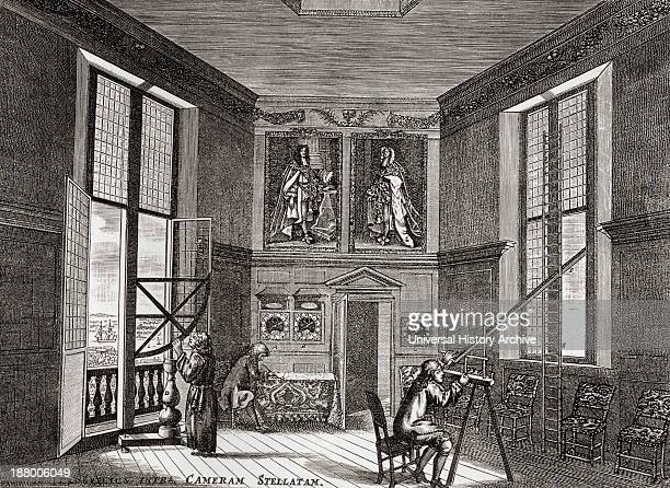 The Old Observing Room Greenwich London England From The Book Short History Of The English People By JR Green Published London 1893
