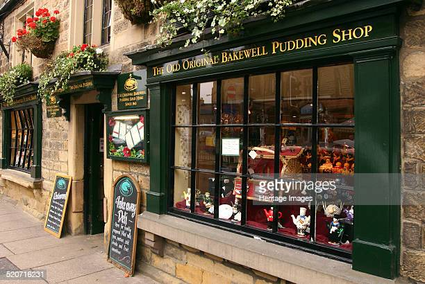 The Old Original Bakewell Pudding Shop, Bakewell, Derbyshire, 2005. Bakewell puddings have been sold from this shop since 1865.