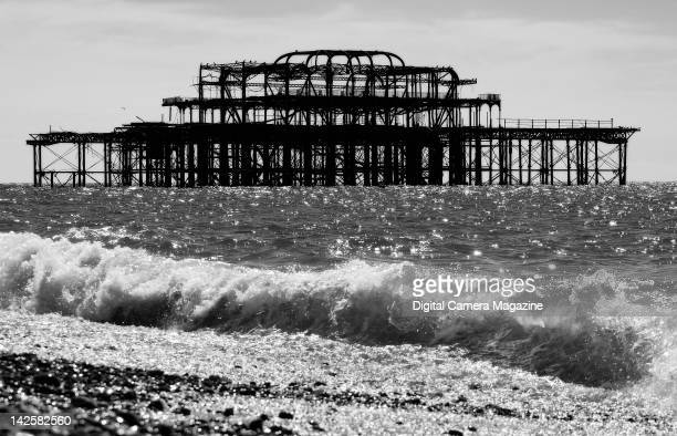 The old pier at Brighton beach taken on August 24 2011