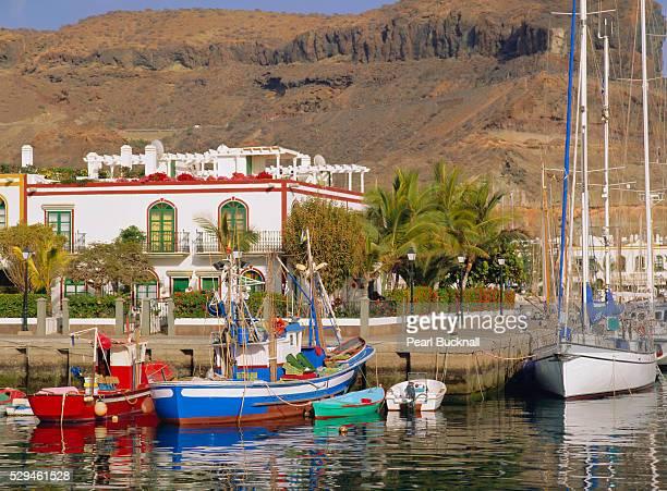 The old port area of Puerto de Mogan, Gran Canaria, Canary Islands, Spain