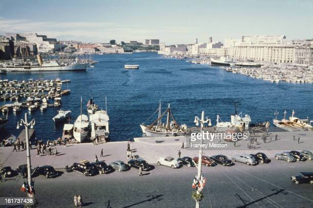 The Old Port of Marseille France circa 1958