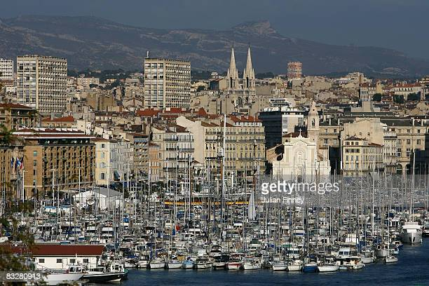 The Old Port of Marseille is seen on October 1 2007 in Marseille France