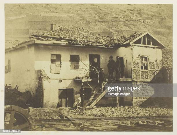 The Old Post Office, Balaklava, 1855. A work made of salted paper print, plate 6 from the album 'photographs taken in the crimea' . Artist Roger...