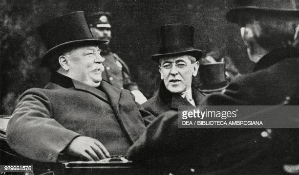 The old President William Howard Taft with his successor Thomas Woodrow Wilson Washington United States of America photograph by Trampus from...