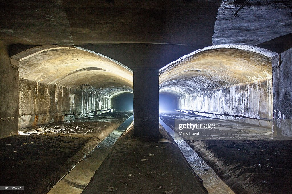 The Old River Senne Tunnel : Stock Photo