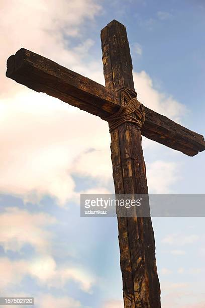 the old rugged cross - cross stock pictures, royalty-free photos & images