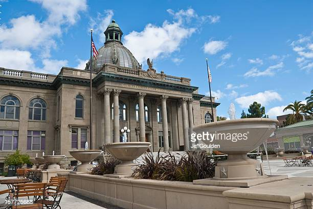 historic san mateo county courthouse - san mateo county stock pictures, royalty-free photos & images